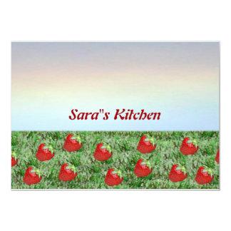 Field of Strawberries Card