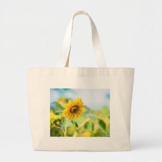 Field of Sunflowers Large Tote Bag