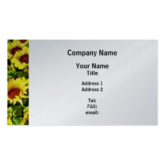Field of Sunflowers - Platinum Finish Pack Of Standard Business Cards