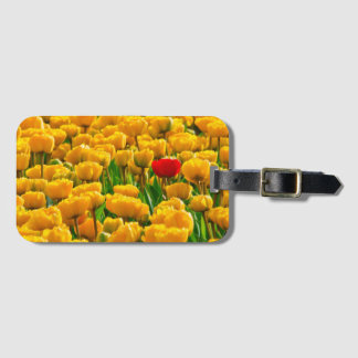 Field Of Tulips Flowers Luggage Tag