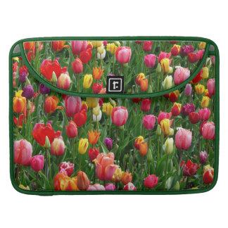 Field Of Tulips Flowers Macbook Pro Sleeve