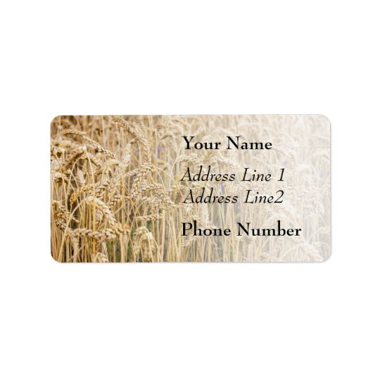 Field Of Wheat, Golden Grains Label