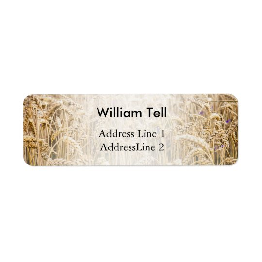 Field Of Wheat, Golden Grains Return Address Label