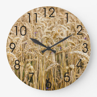 Field Of Wheat, Golden Grains Wall Clocks