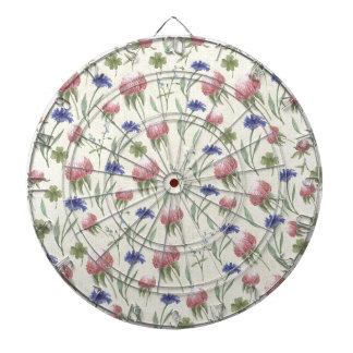 Field of wild flowers dart boards