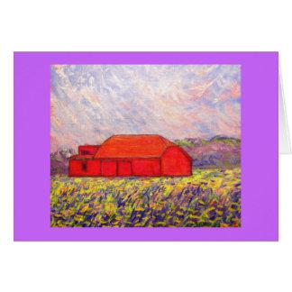 field of wild purple iris greeting card