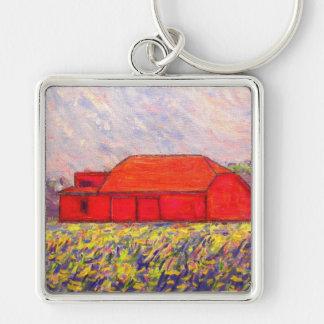 field of wild purple iris keychain