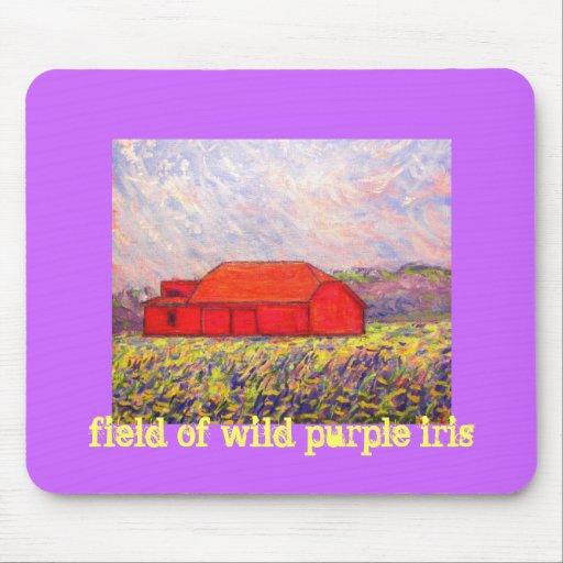 field of wild purple iris mousepads