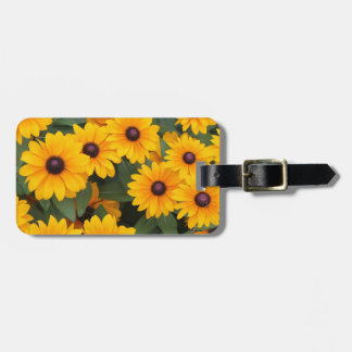 Field of yellow daisies luggage tag