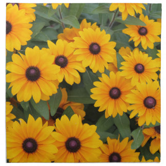 Field of yellow daisies napkin