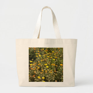 Field of yellow flowers canvas bag