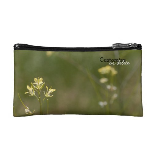 Field of Yellow Flowers; Customizable Cosmetic Bag