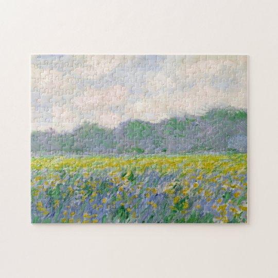 Field of Yellow Irises Monet Fine Art Jigsaw Puzzle