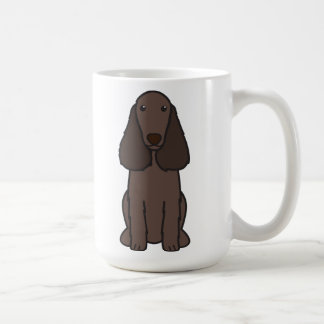 Field Spaniel Dog Cartoon Coffee Mug