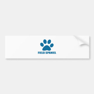 FIELD SPANIEL DOG DESIGNS BUMPER STICKER
