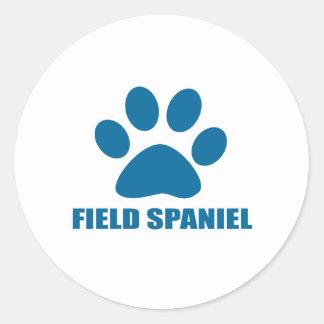 FIELD SPANIEL DOG DESIGNS CLASSIC ROUND STICKER