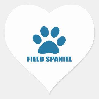 FIELD SPANIEL DOG DESIGNS HEART STICKER