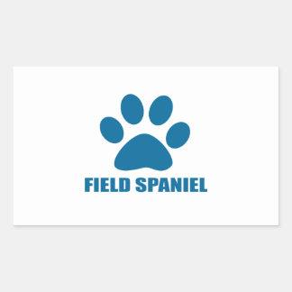 FIELD SPANIEL DOG DESIGNS RECTANGULAR STICKER