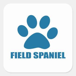 FIELD SPANIEL DOG DESIGNS SQUARE STICKER