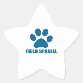 FIELD SPANIEL DOG DESIGNS STAR STICKER