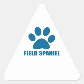 FIELD SPANIEL DOG DESIGNS TRIANGLE STICKER
