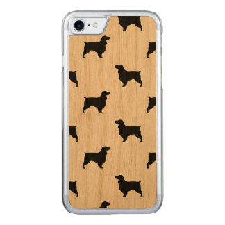 Field Spaniel Silhouettes Pattern Carved iPhone 7 Case