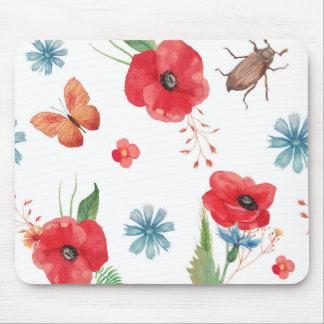 Field Wildflower Pattern Mouse Pad