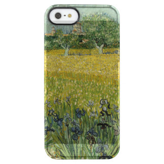 Field with flowers near Arles by Vincent Van Gogh Clear iPhone SE/5/5s Case