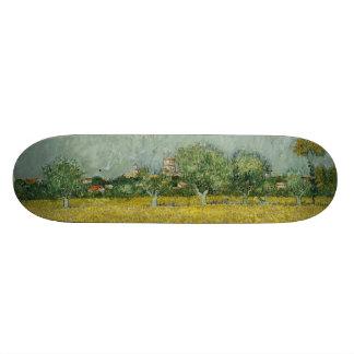 Field with Flowers Near Arles by Vincent Van Gogh Custom Skate Board