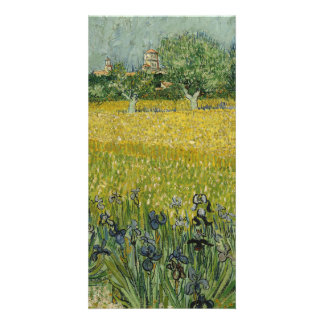 Field with flowers near Arles by Vincent Van Gogh Picture Card
