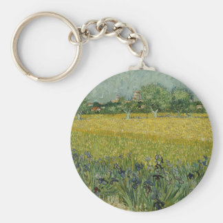 Field with Flowers near Arles, Vincent Van Gogh Key Ring