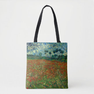 Field with Poppies by Van Gogh Fine Art Tote Bag