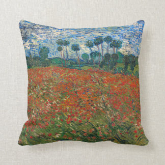 Field with Poppies Throw Pillow