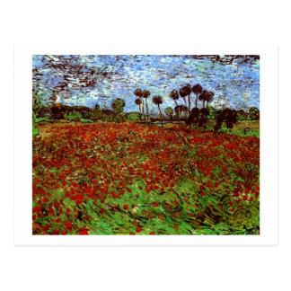 Field with Poppies Van Gogh Fine Art Postcard