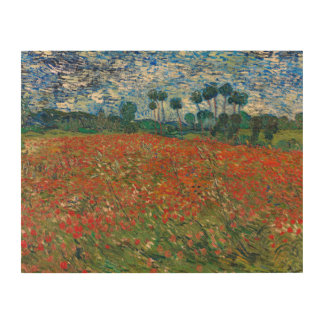 Field with Poppies Wood Print