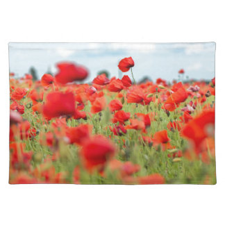 Field with red papavers placemat