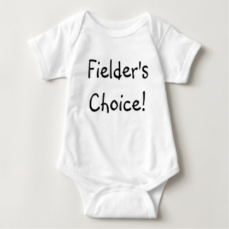 Fielder's Choice! - Customized Baby Bodysuit