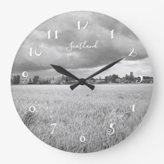 Fields in Scotland, beautiful wall clock