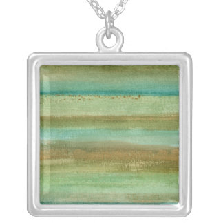 Fields in Spring I Square Pendant Necklace