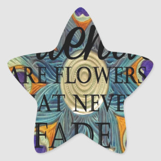 Fiends Flowers that never fade Star Stickers