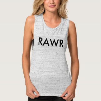 Fierce and Sexy 'Rawr' Workout Flowy Muscle Tank Top