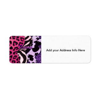 Fierce Animal Print Return Address Label