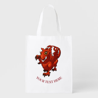 Fierce Baby Red Dragon Cartoon With Text