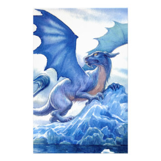 Fierce Blue Dragon Stationery