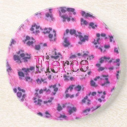 Fierce Cheetah Print Coasters