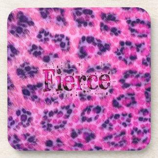 Fierce Cheetah Print Beverage Coaster