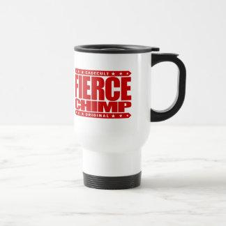 FIERCE CHIMP - Fearless Warrior of 98% Primate DNA Stainless Steel Travel Mug