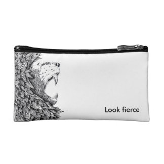 Fierce cosmetic bag