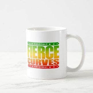 FIERCE CURVES - Body of Fearless Amazon Warrior Basic White Mug