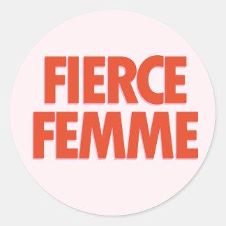 Fierce Femme Classic Round Sticker